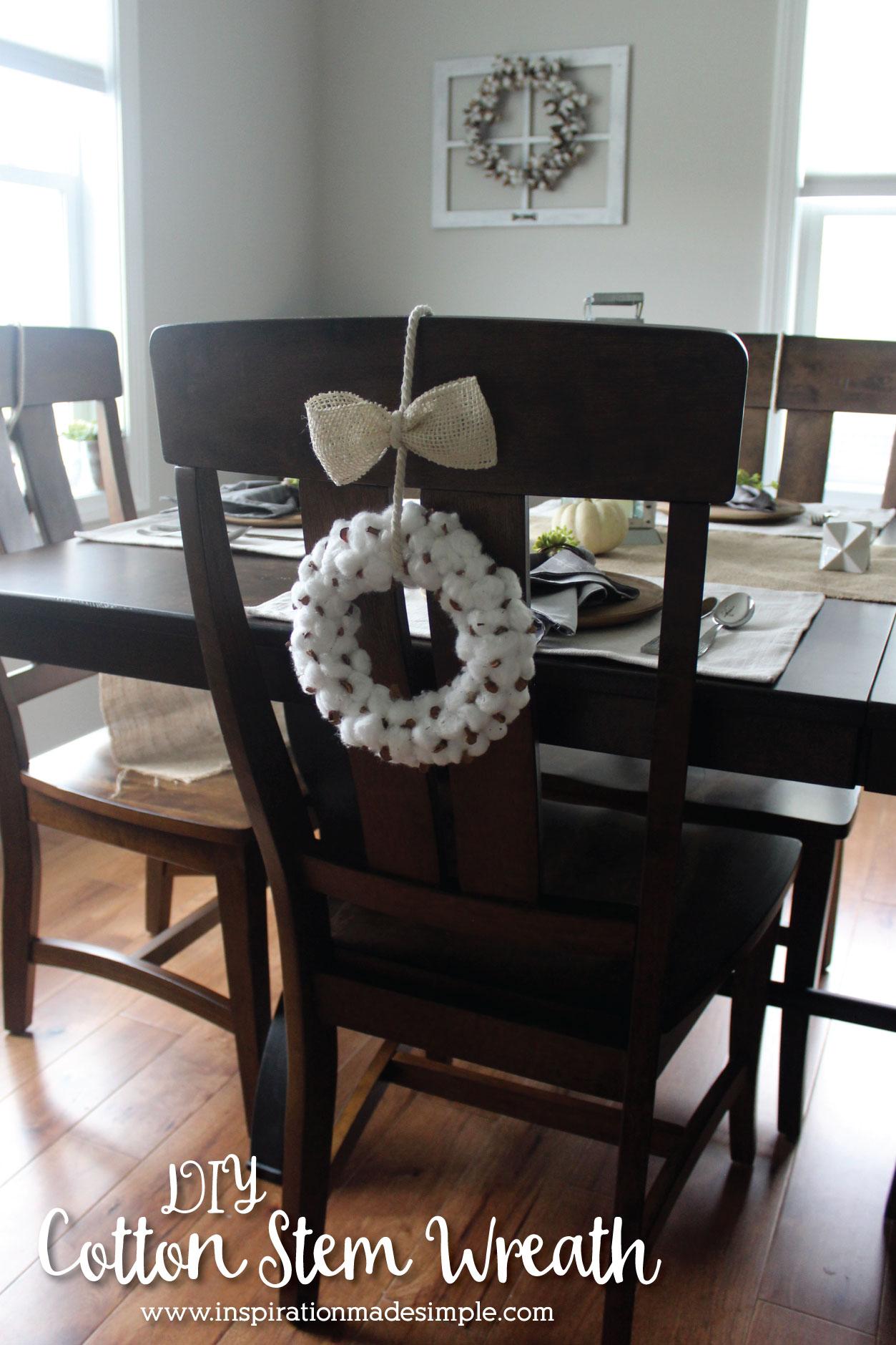 DIY Cotton Stem Wreath Tutorial