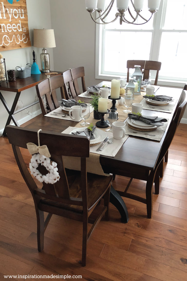 DIY Dining Room Tablescape