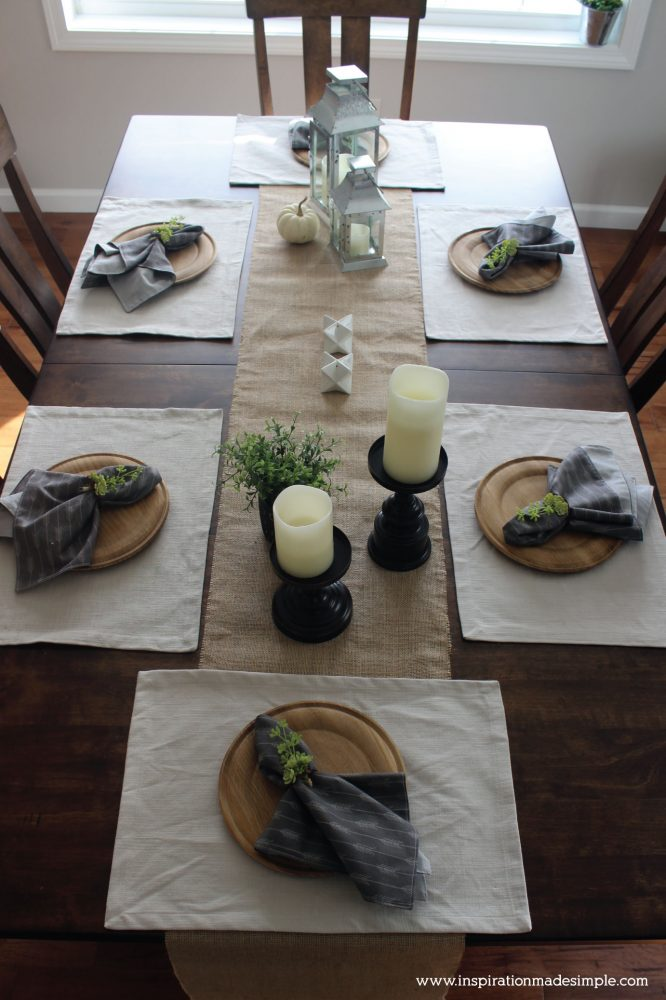 Rustic Dining Tablescape