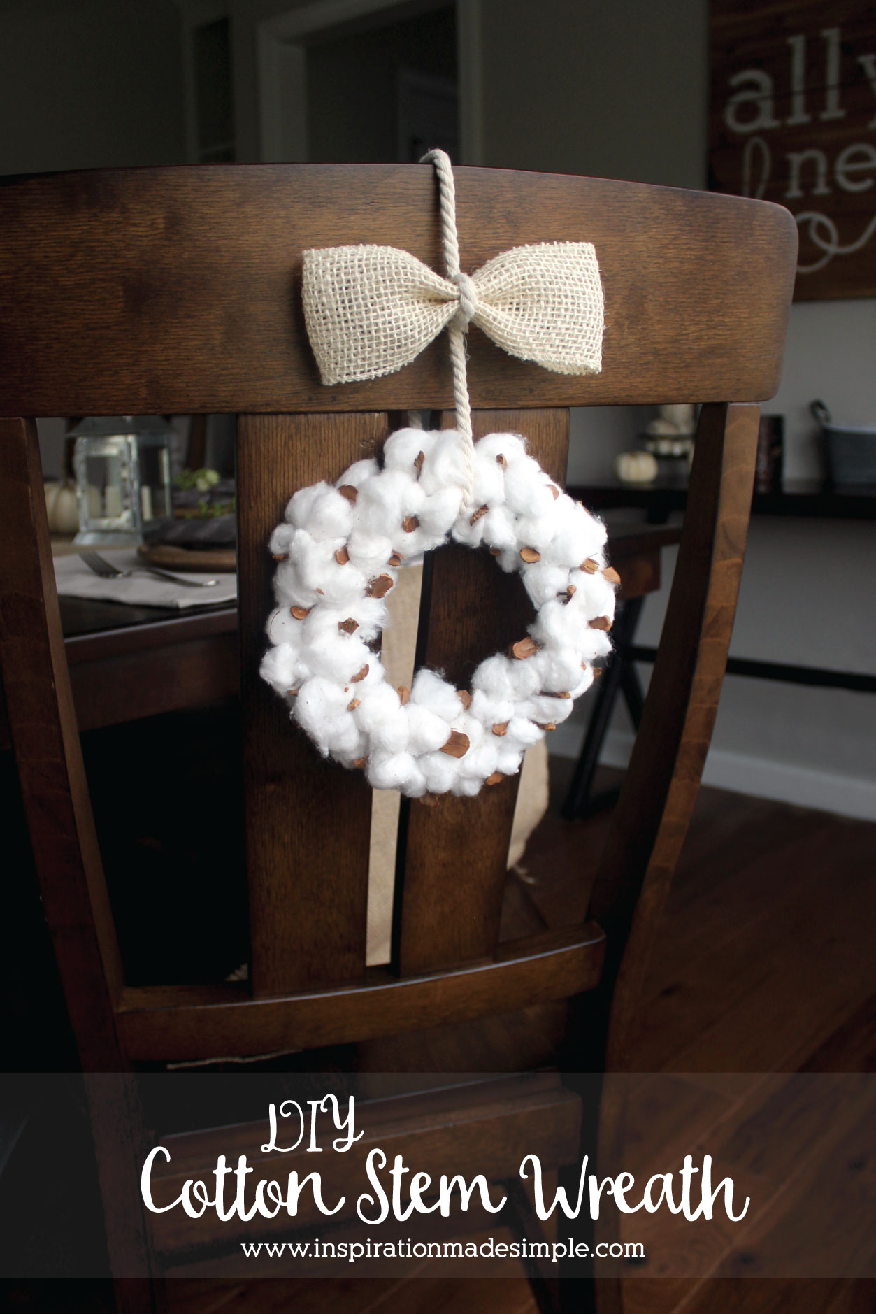 DIY Cotton Stem Wreath Tutorial