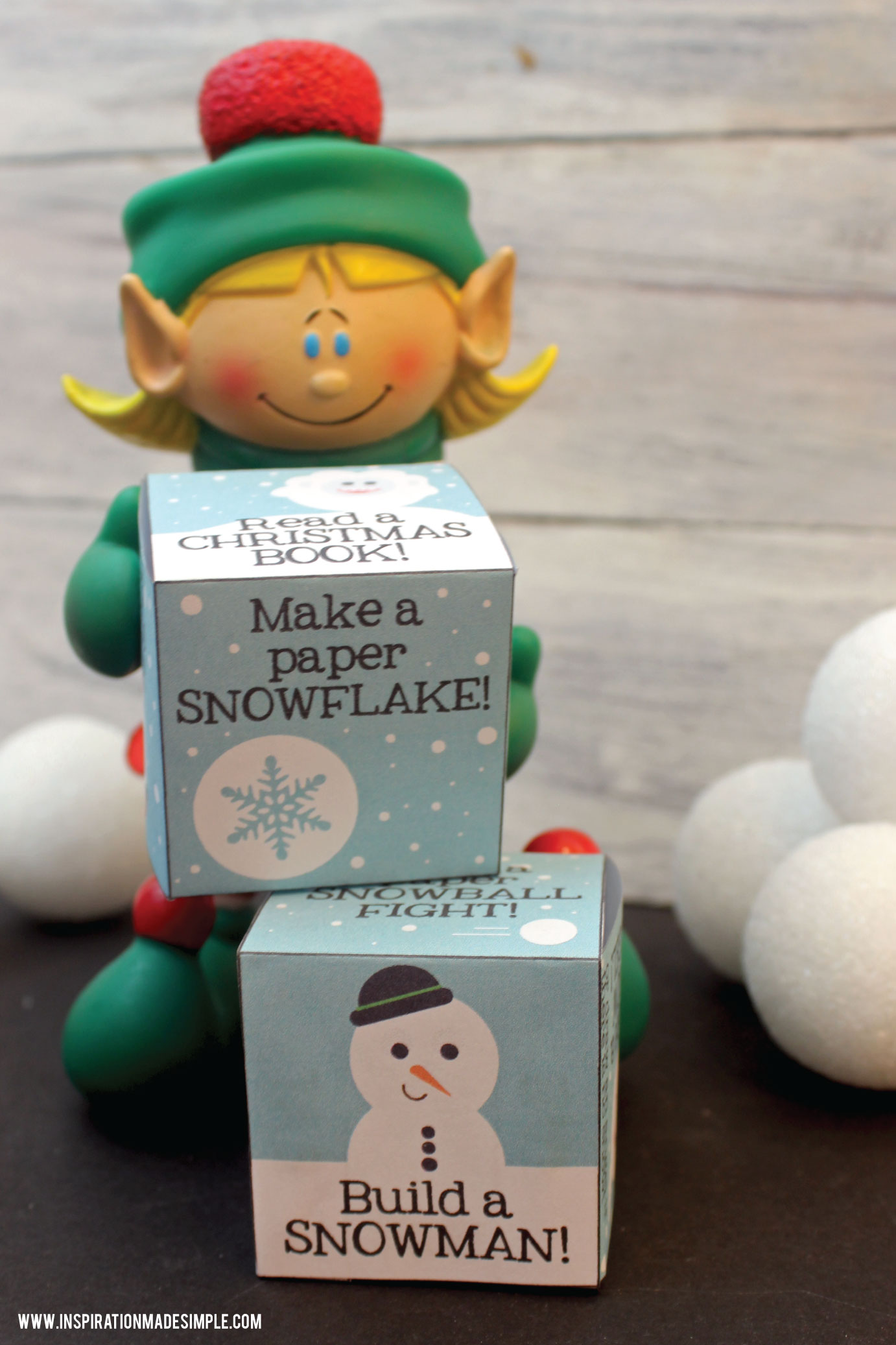 Printable Christmas Activity Cubes - perfect gift from the Elf on the Shelf!