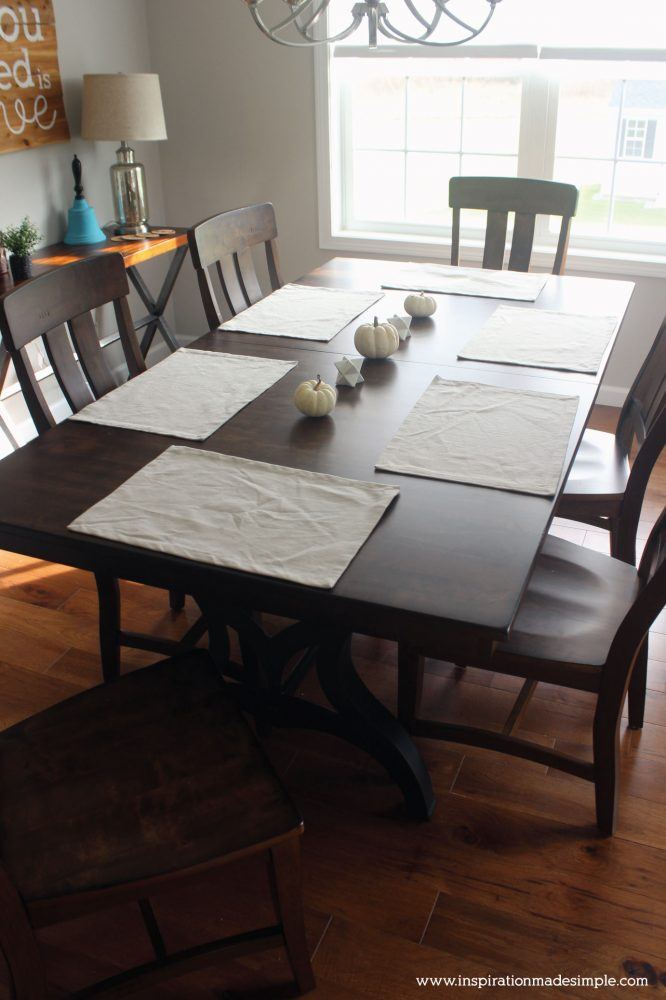 Beautiful Rustic Trestle Dining Table