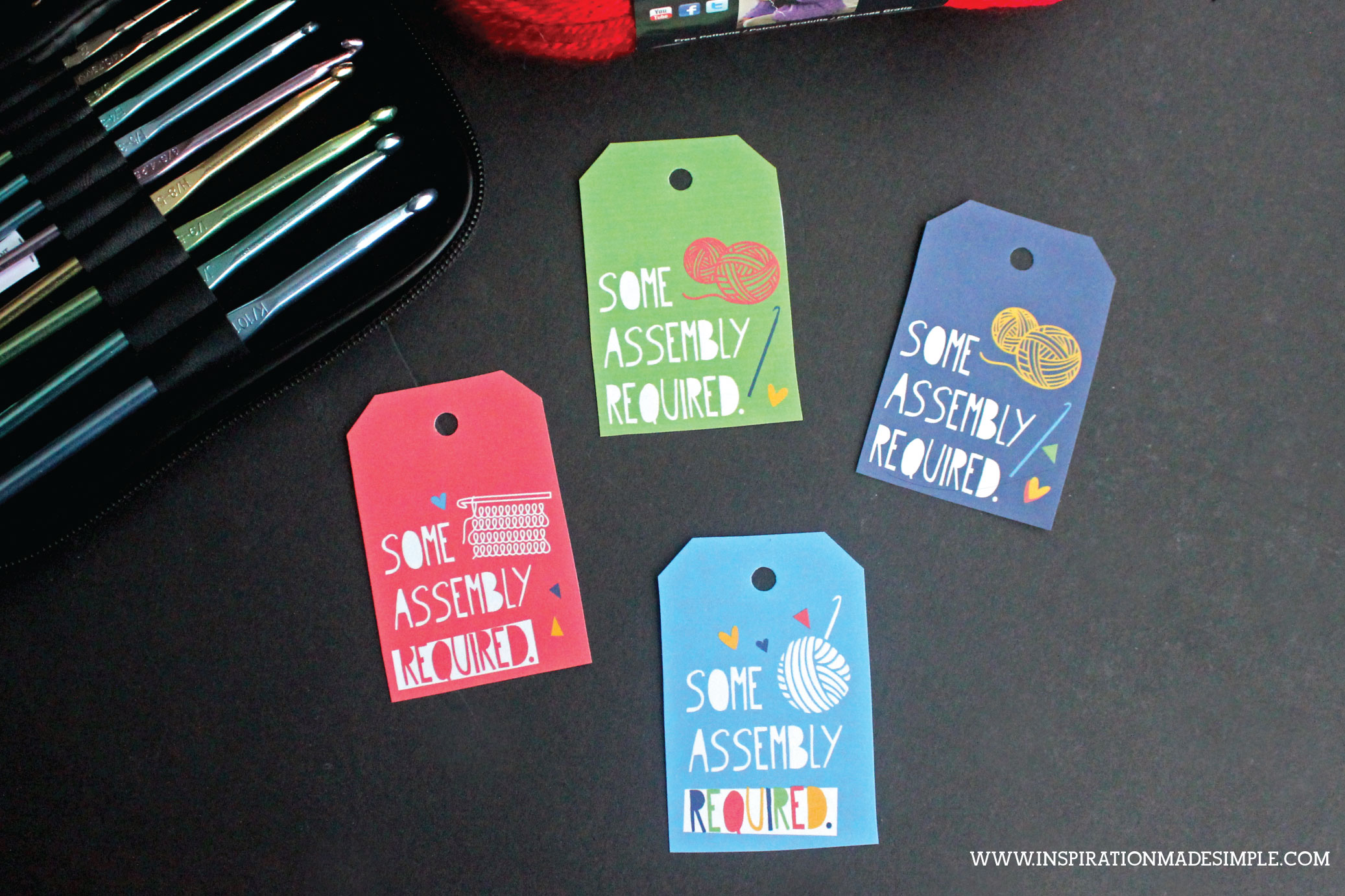 Knitting/Crochet Supplies Gift Tags