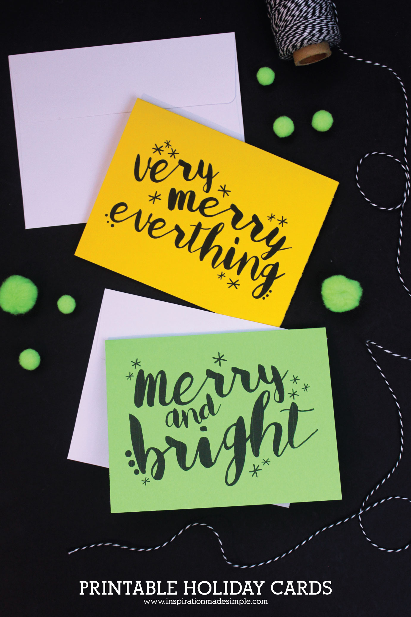 Gorgeous printable holiday cards plus SVG cut file