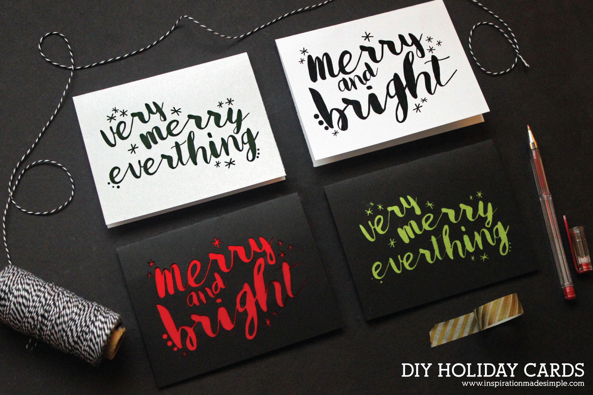 Merry & Bright DIY Holiday Cards