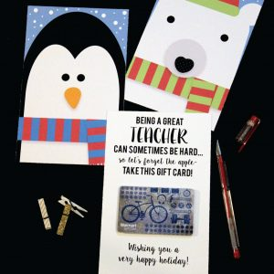 Teacher Gift Card Holder Holiday Cards
