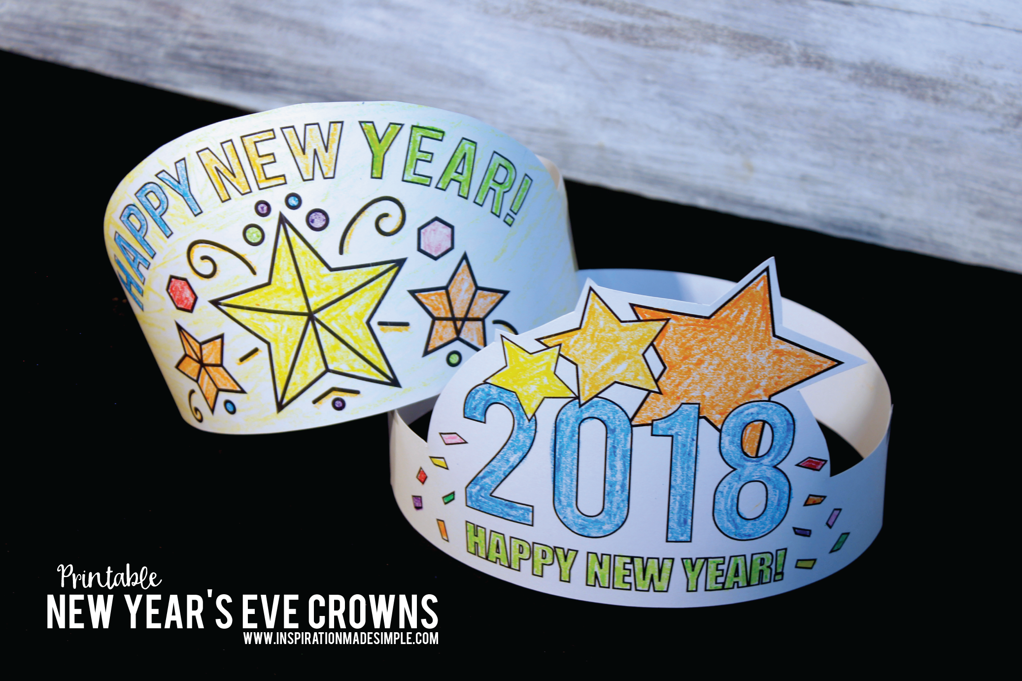 Printable New Year's Eve Crown