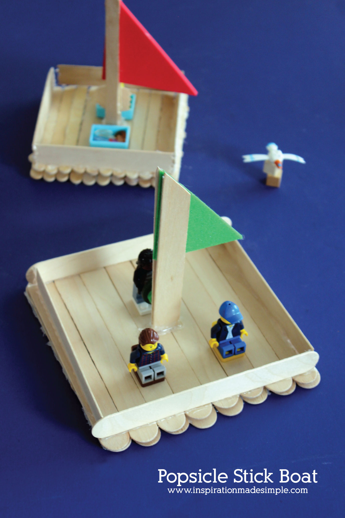 Popsicle Stick Boat Kids Craft