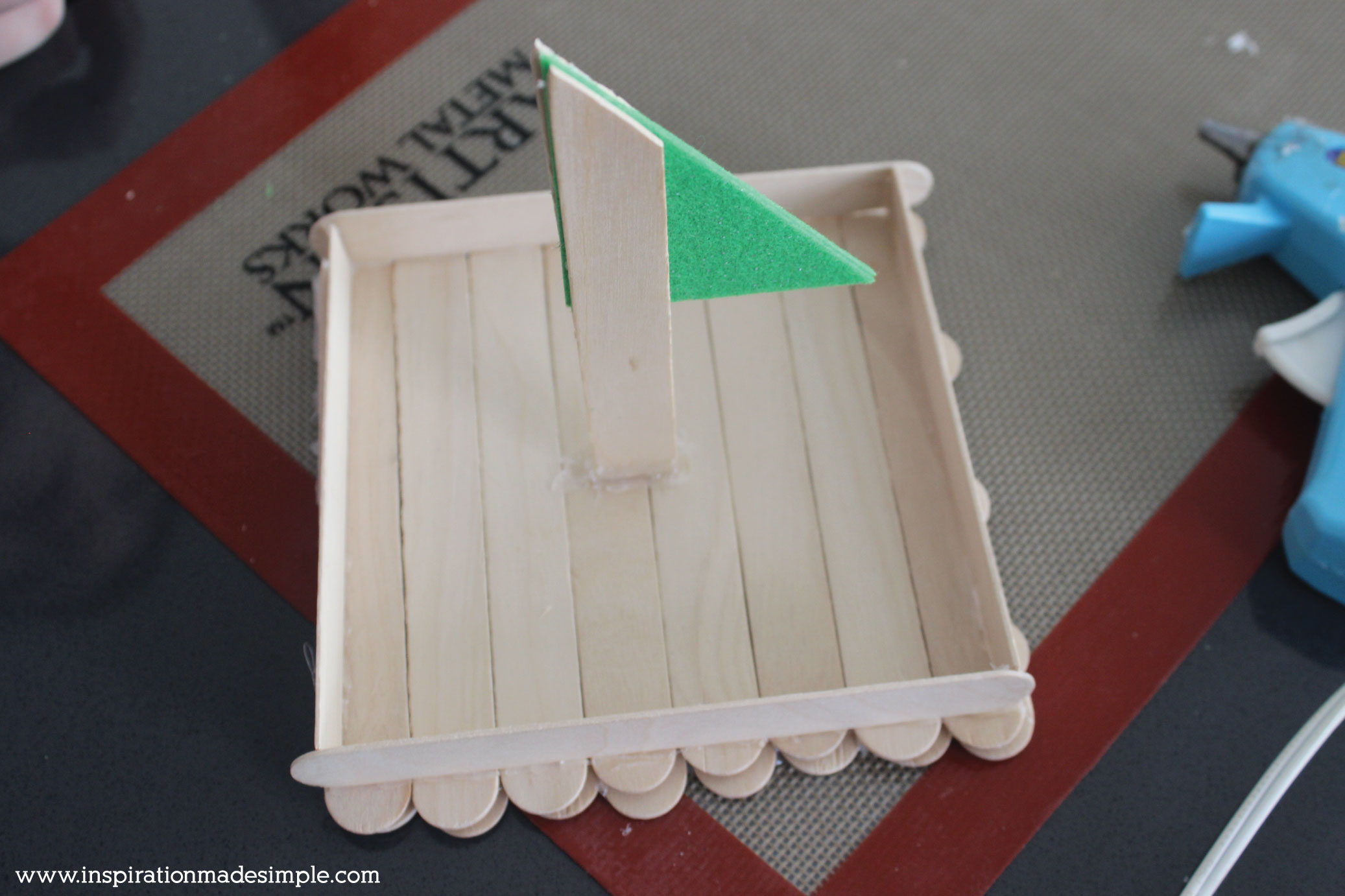 DIY Popsicle Stick Boat Kids Craft Tutorial