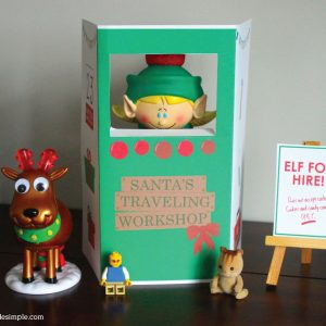 Santa's Traveling Workshop Shelf Elf Booth
