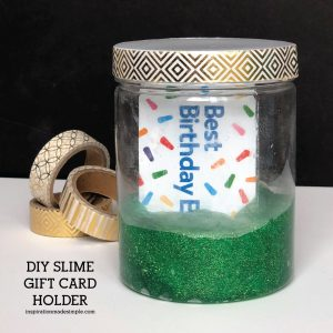 DIY Slime Gift Card Holder