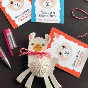 Adorable Printable Llama Valentines