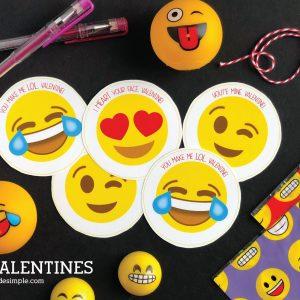 Printable Emoji Valentines