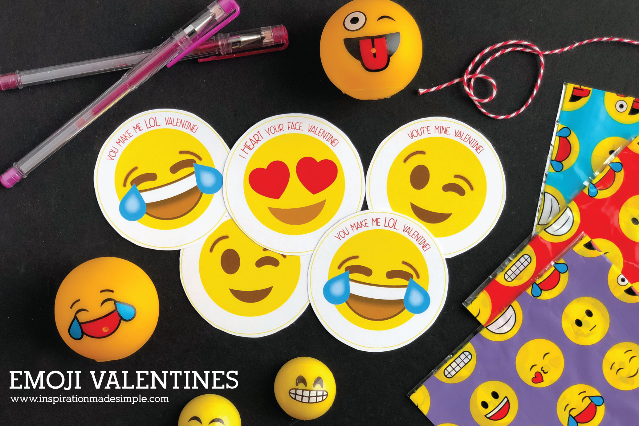 picture about Printable Emoji Pictures known as Printable Emoji Valentines - Drive Manufactured Straightforward