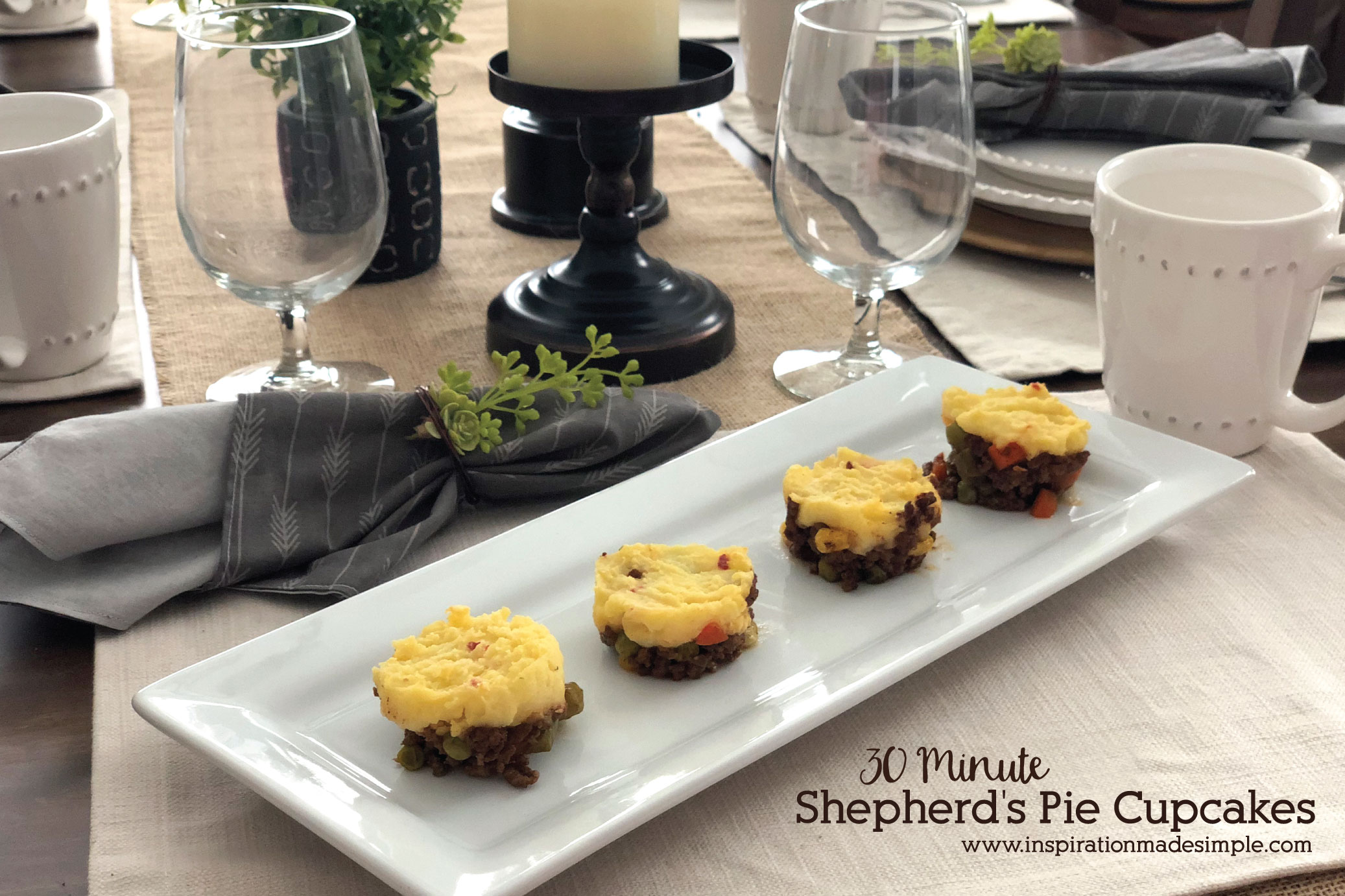 30 Minute Shepherd's Pie Cupcakes