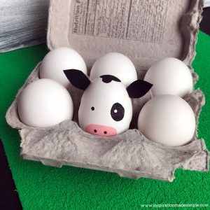 DIY Cow Easter Egg