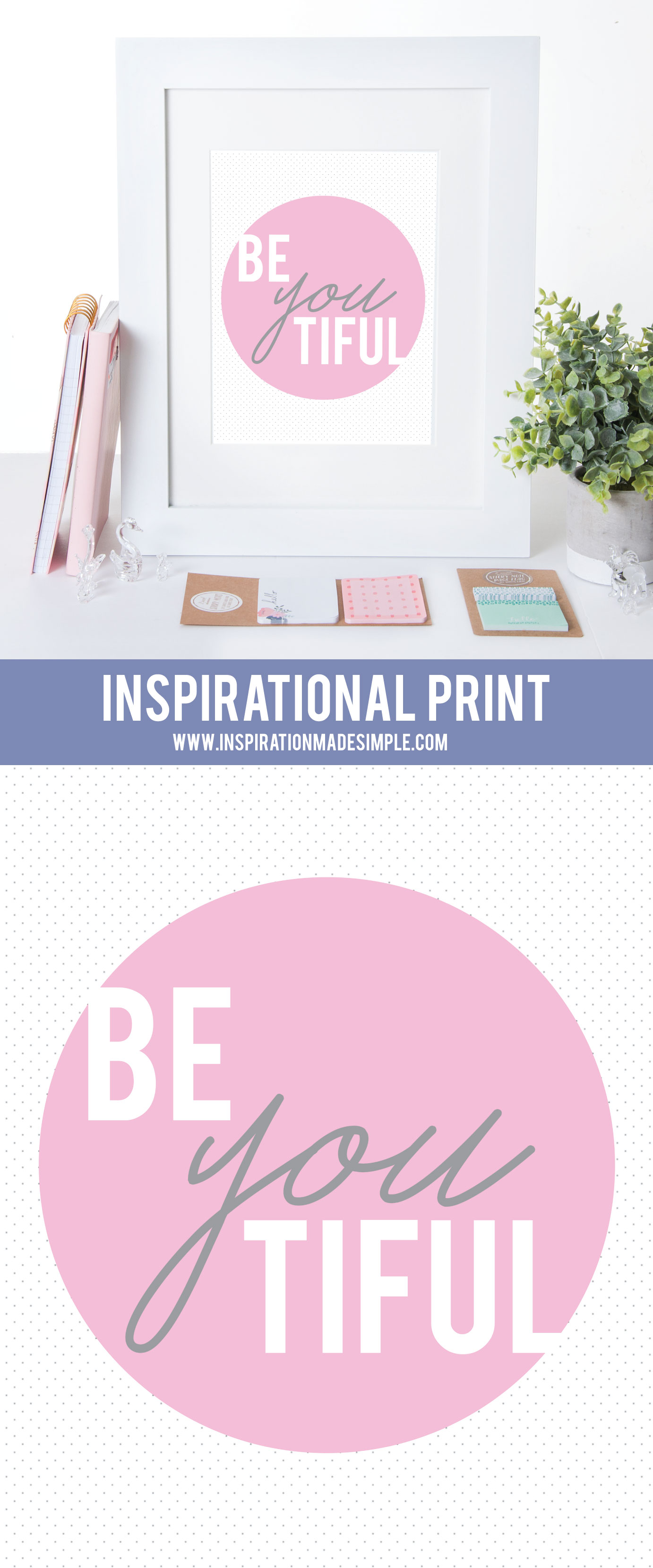 Inspirational wall art for a little girls room or women's office!