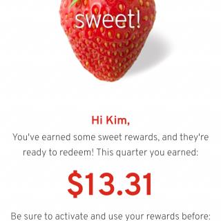 My Hannaford Rewards Quarterly Savings