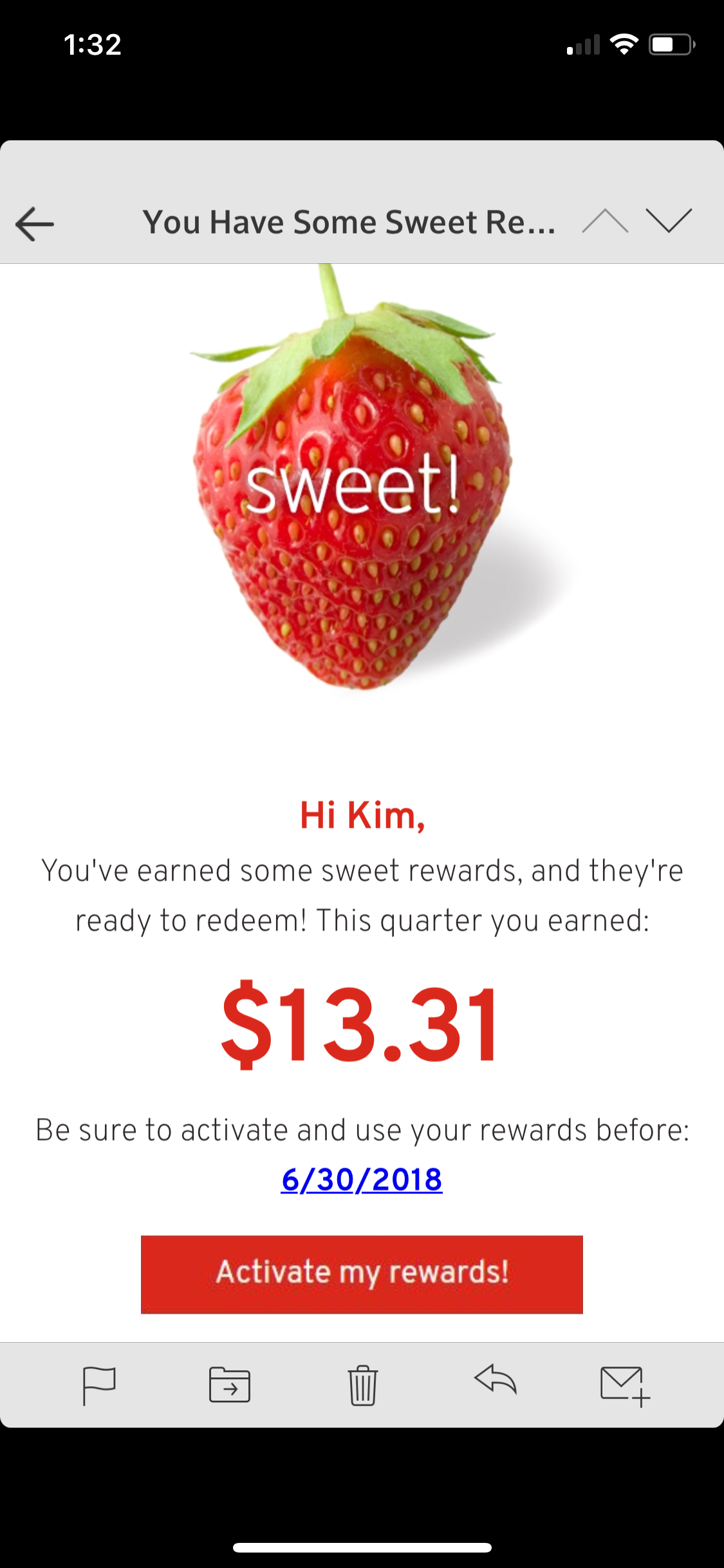 My Hannaford Rewards Quarterly Savings