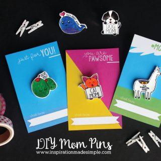 DIY Mom Lapel Pins