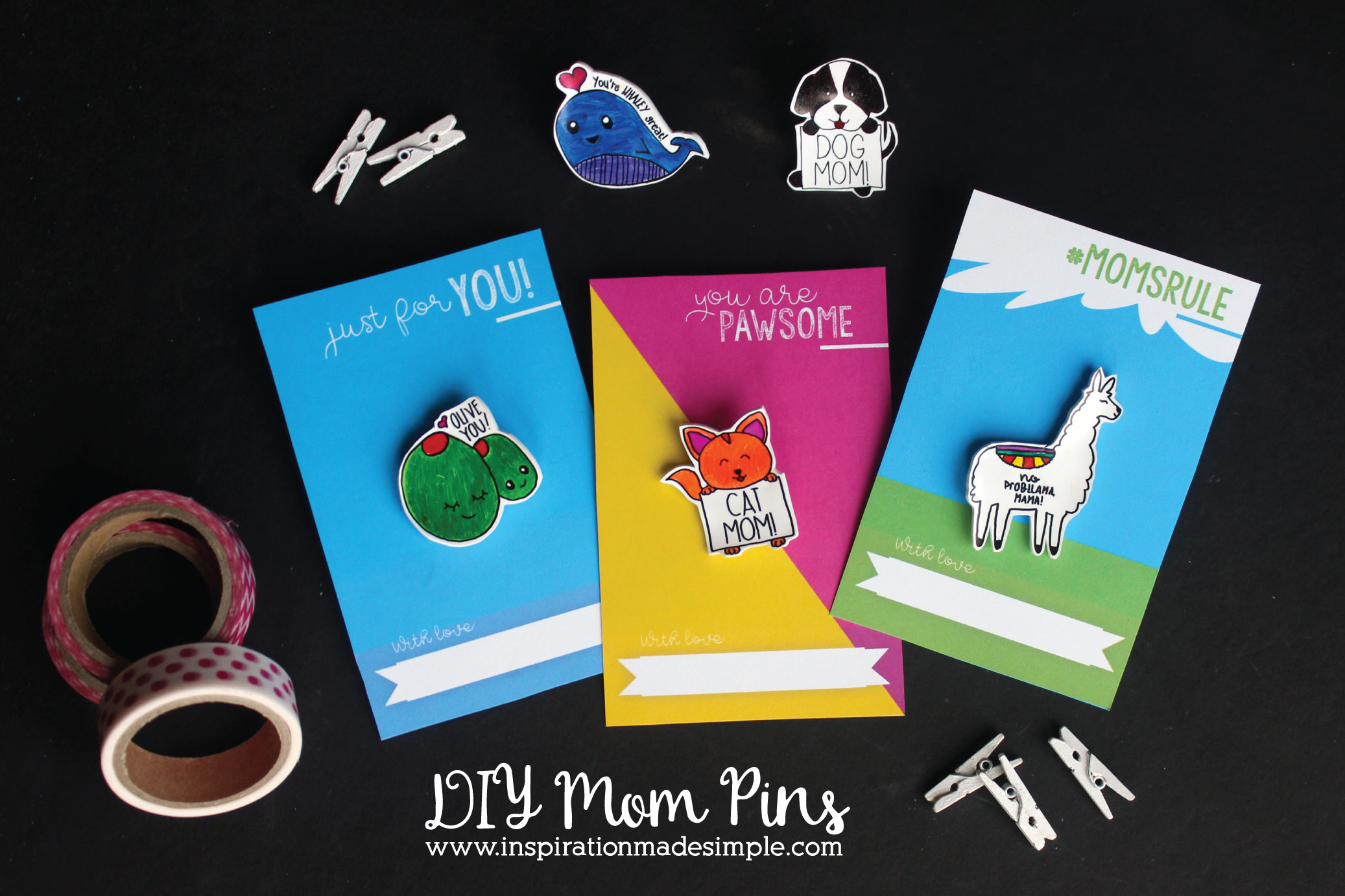 DIY Mom Lapel Pins