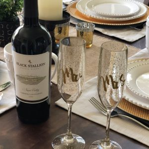 DIY Mr & Mrs Wine Glasses