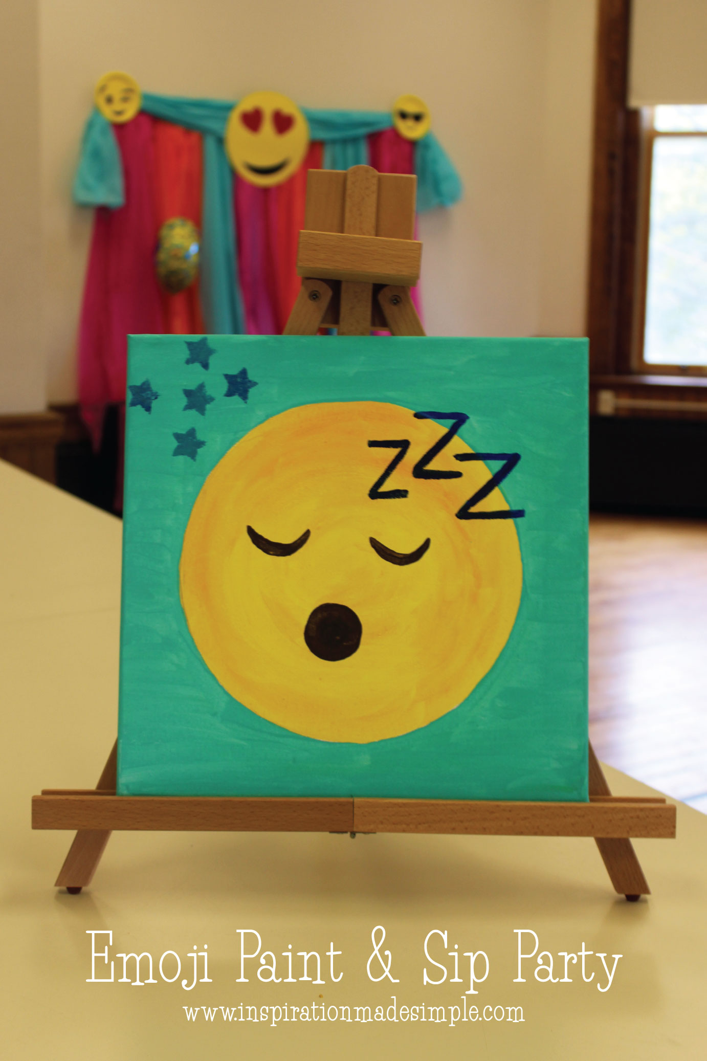 Emoji Paint Sip Party Inspiration Made Simple