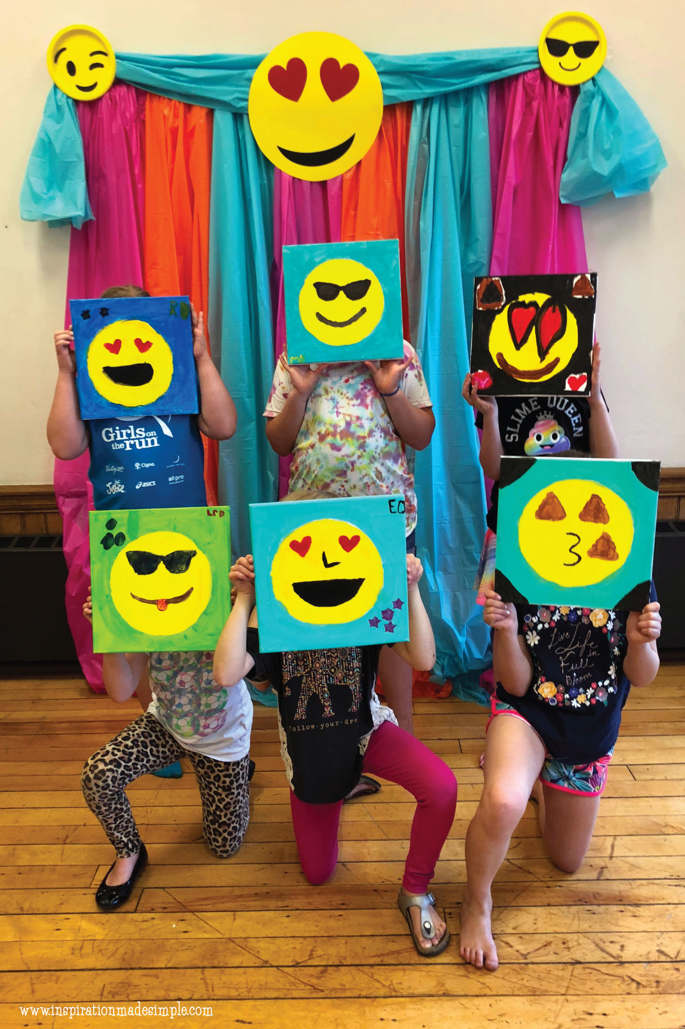 Emoji Paint and Sip Party for Kids