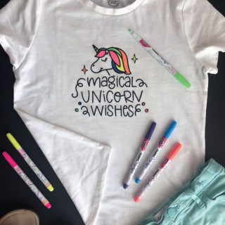 DIY Unicorn Coloring Shirt with EasyPress 2