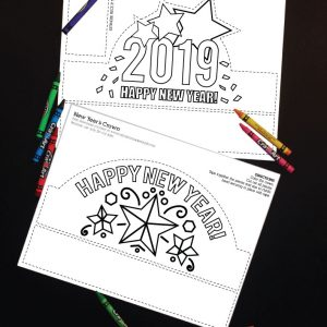 2019 printable new years eve crown