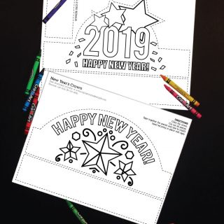 Printable New Year's Eve Coloring Crowns