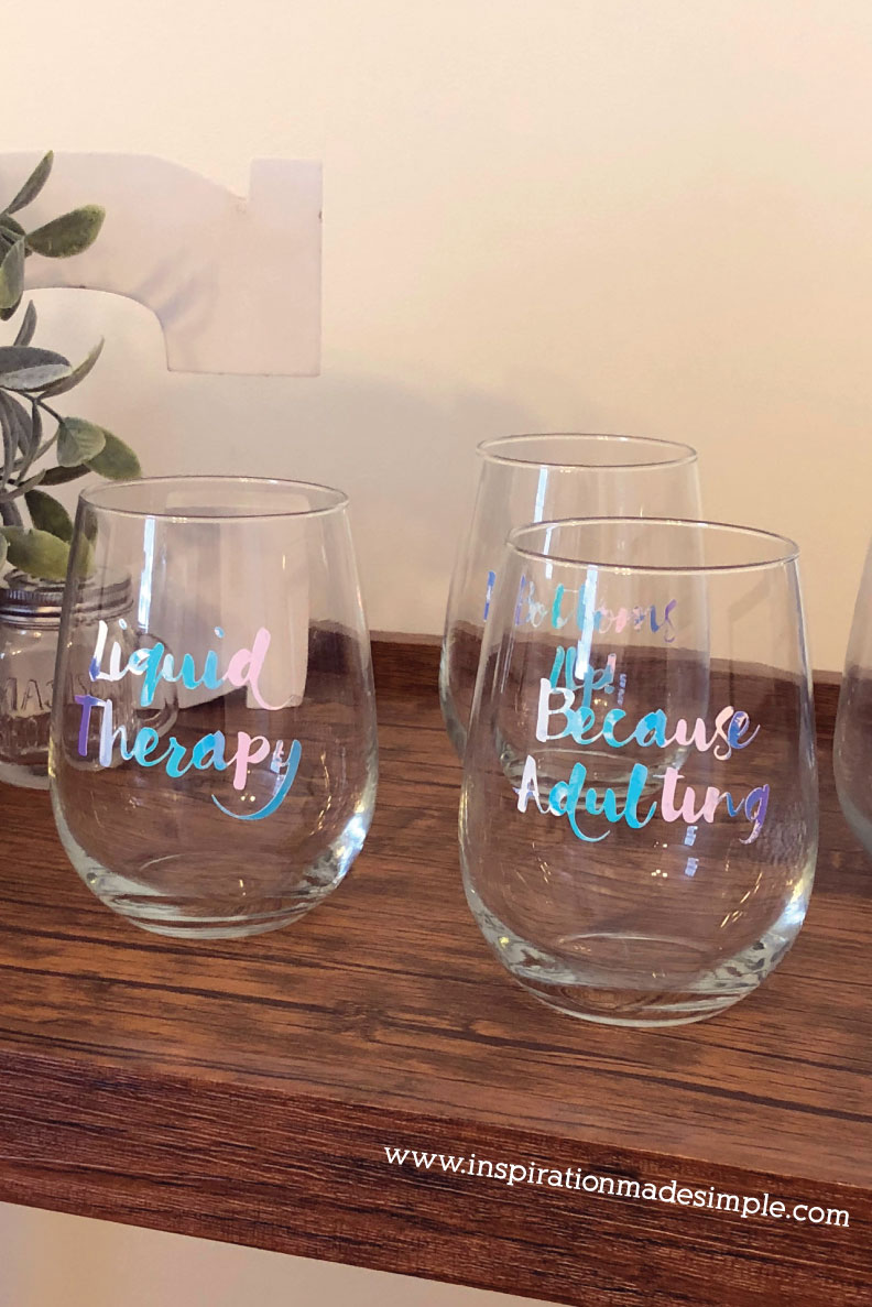 DIY Sassy Wine Glasses - Inspiration Made Simple