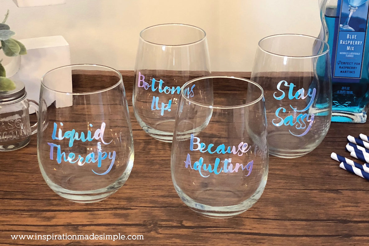 DIY Sassy Wine Glasses