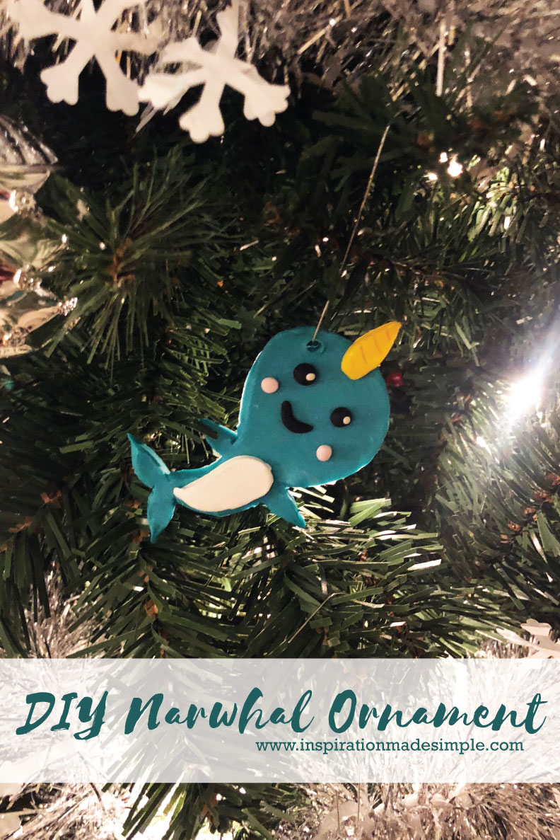 DIY Clay Narwhal Ornaments