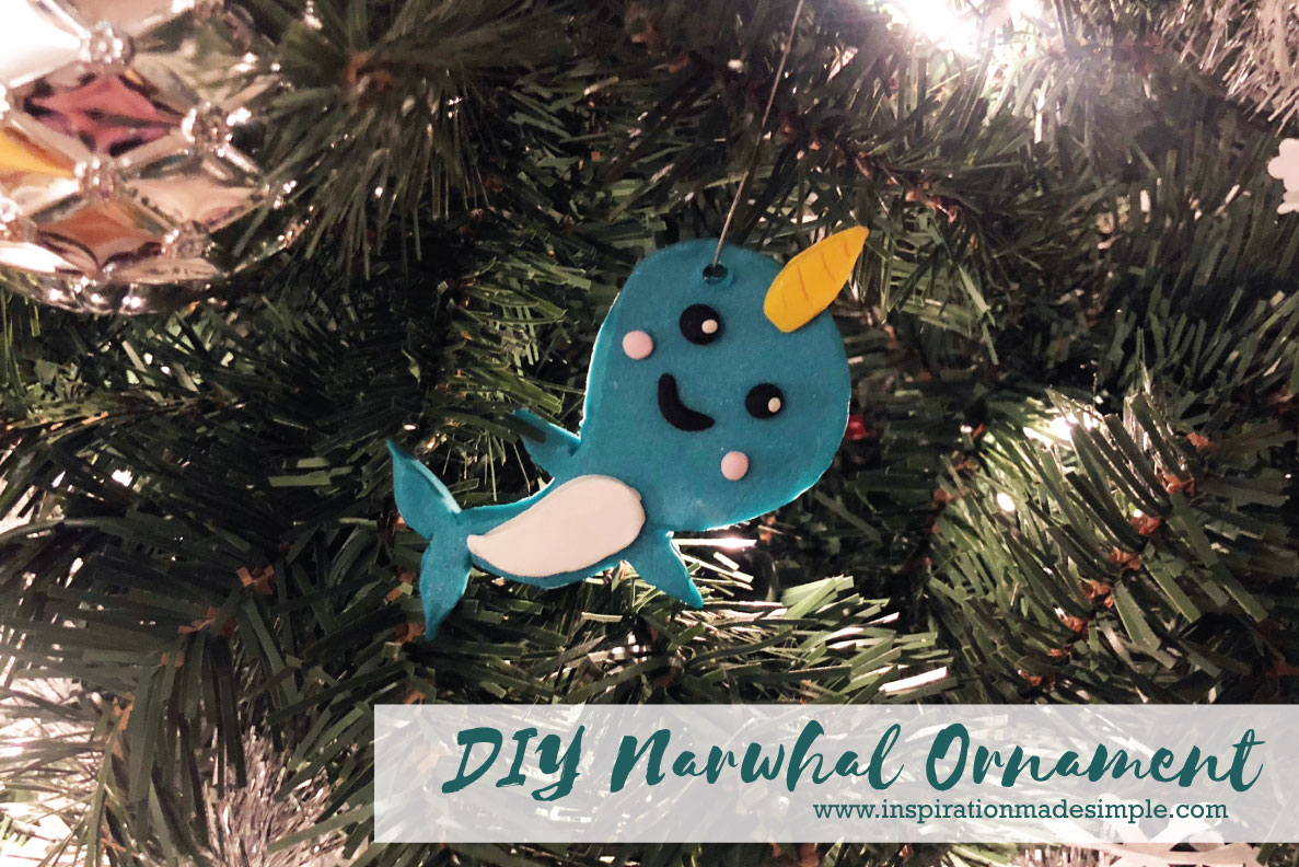 DIY Clay Narwhal Ornament
