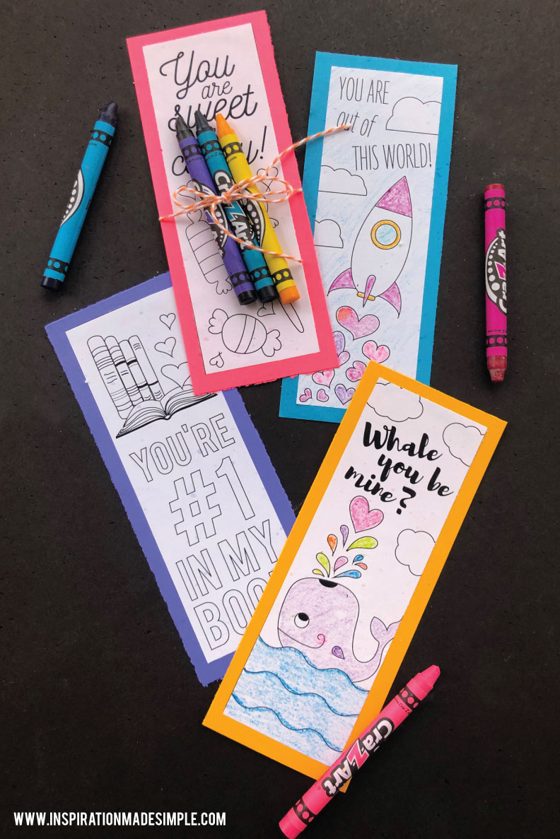 Printable Valentine Bookmarks - Perfect for a classroom gift exchange!