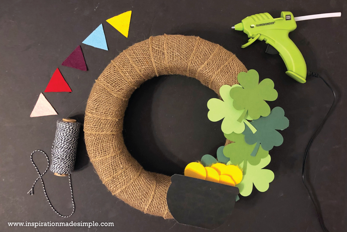 DIY St. Patrick's Day Wreath with the Cricut Maker