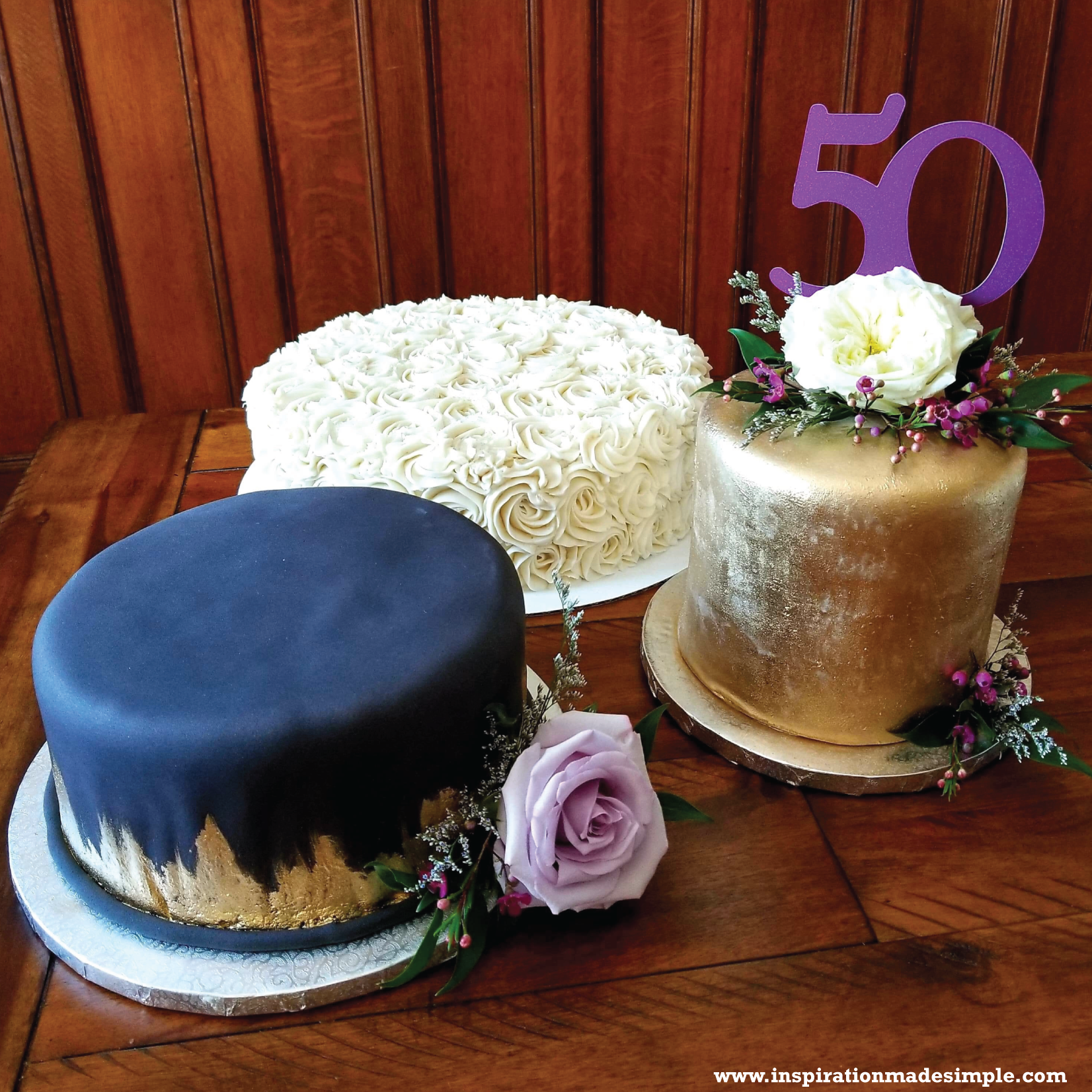 "DIY ""50"" Cake Topper with the Cricut Maker"