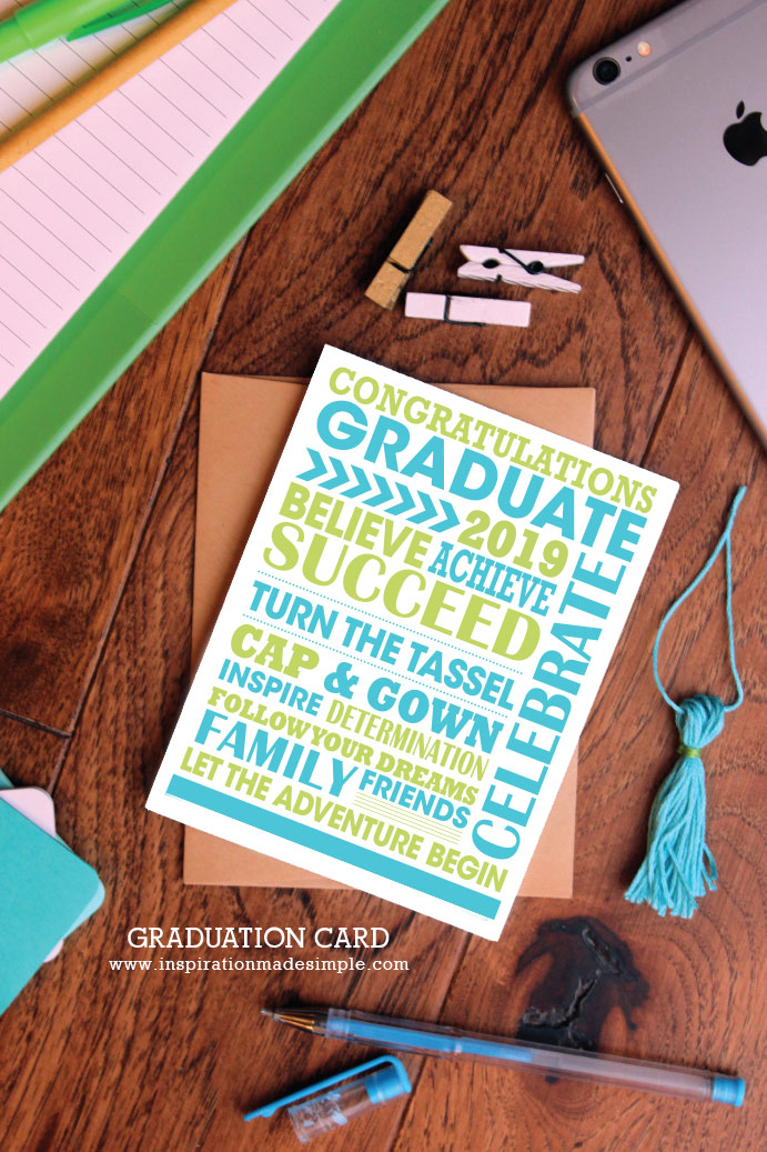 2019 Printable Graduation Card