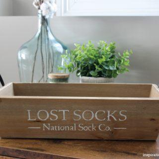 DIY Lost Sock Bin with the Cricut Maker