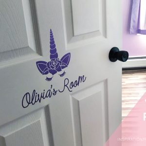 Unicorn Vinyl Room Sign