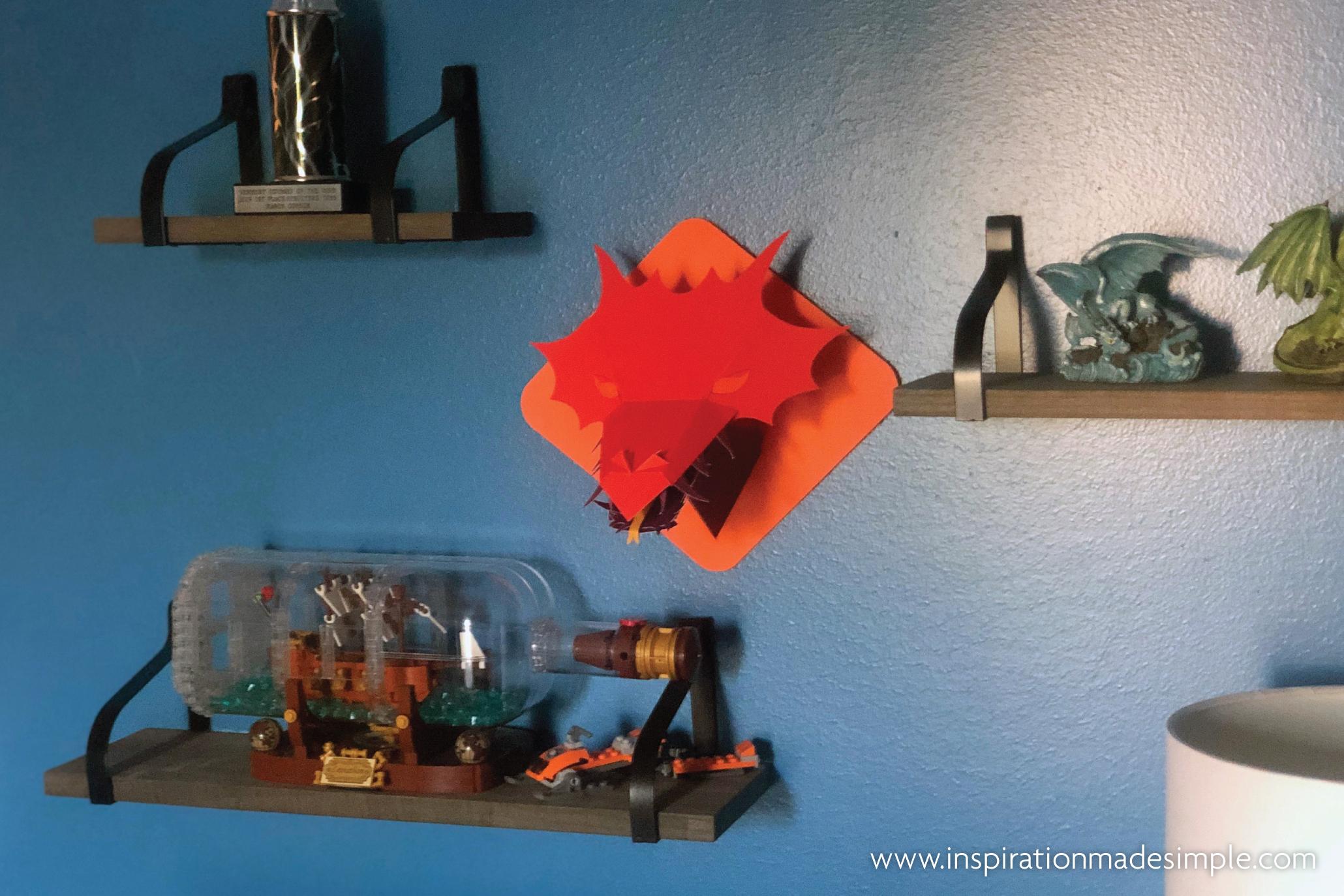 DIY 3D Paper Dragon Head