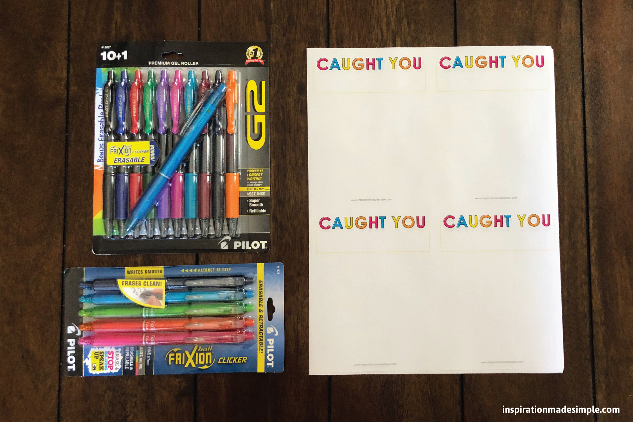 "DIY ""Caught You"" Notepad for Teachers #PilotPen4School #PowerToThePen"