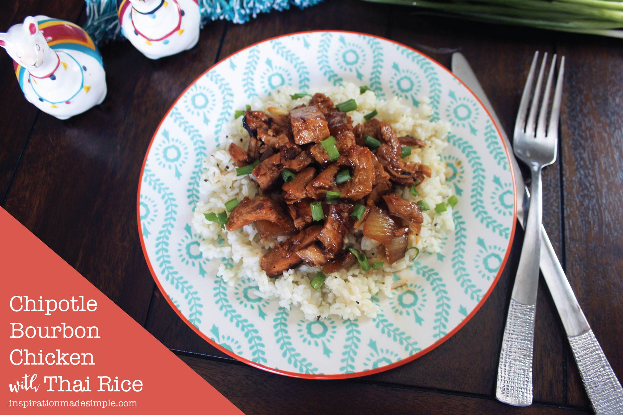 Chipotle Bourbon Chicken with Thai Rice