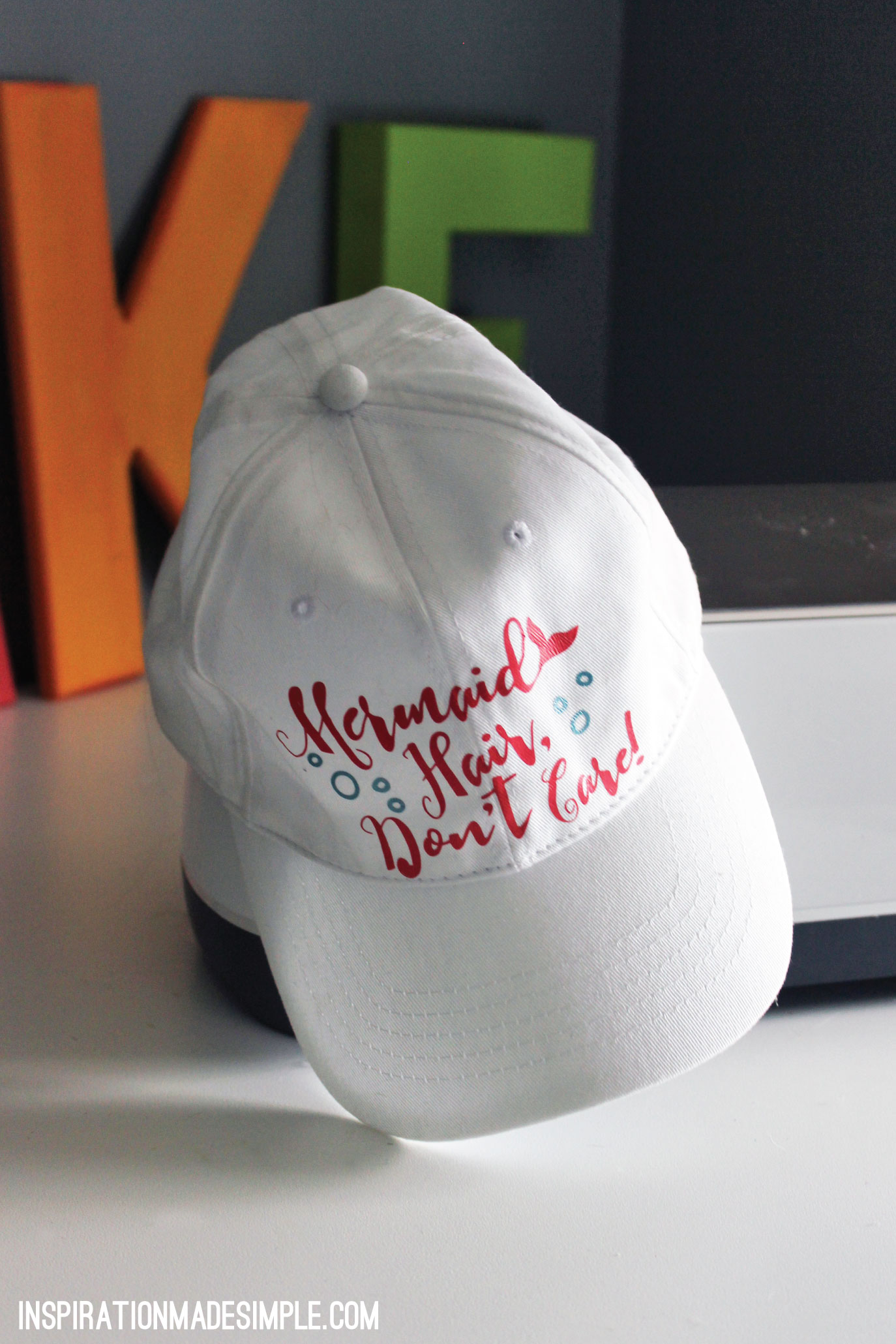 Mermaid Hair, Don't Care DIY Hat with Cricut Maker