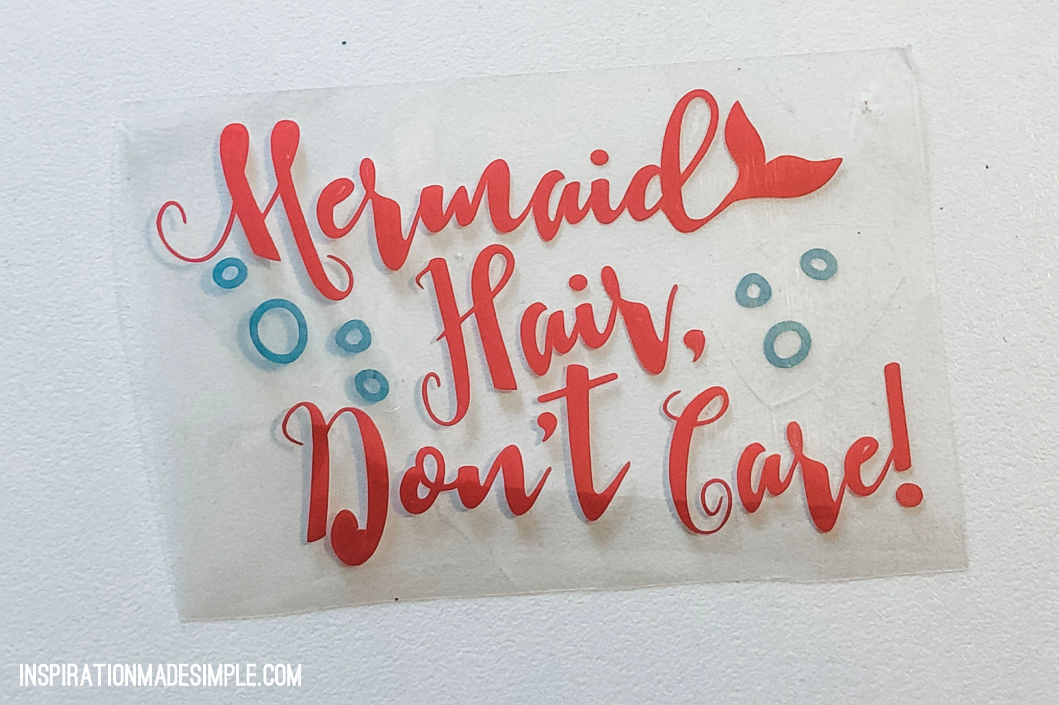 Mermaid Hair, Don't Care DIY Hat with Cricut Maker