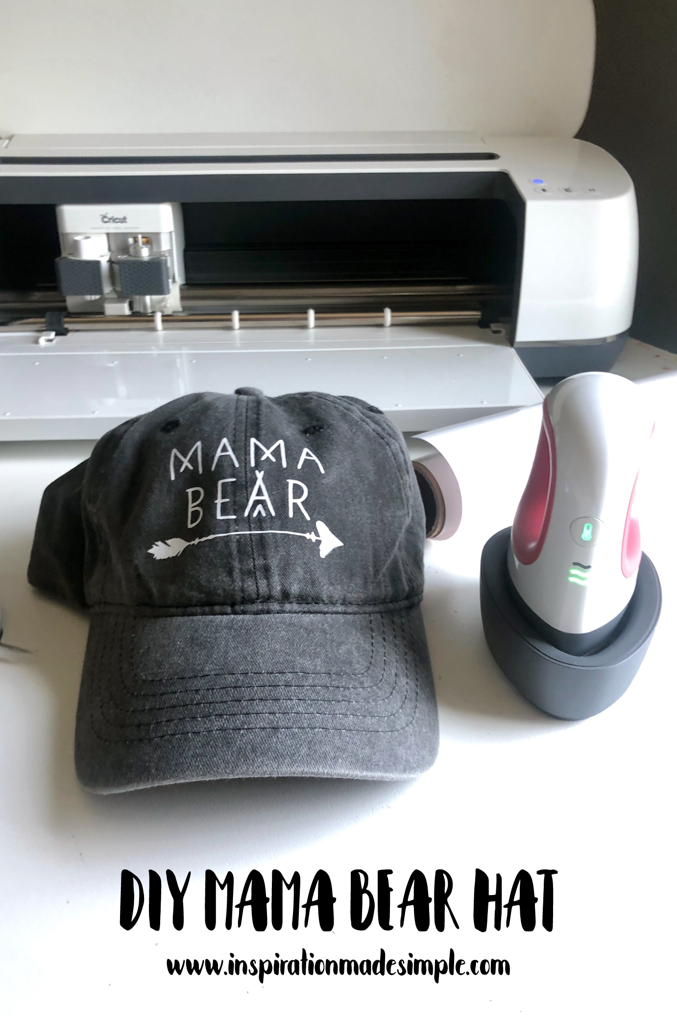 Mama Bear Hat with the Cricut EasyPress Mini