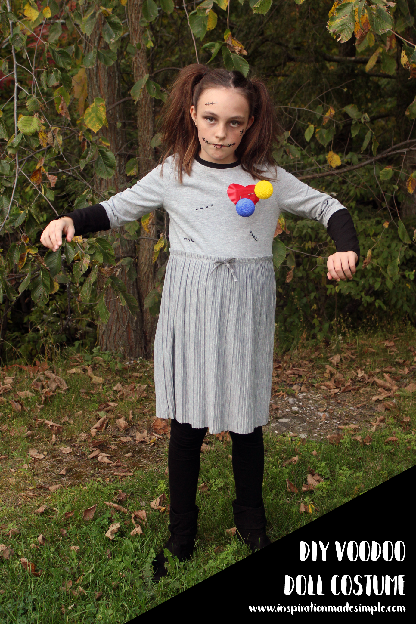 Simple DIY Voodoo Doll Halloween Costume