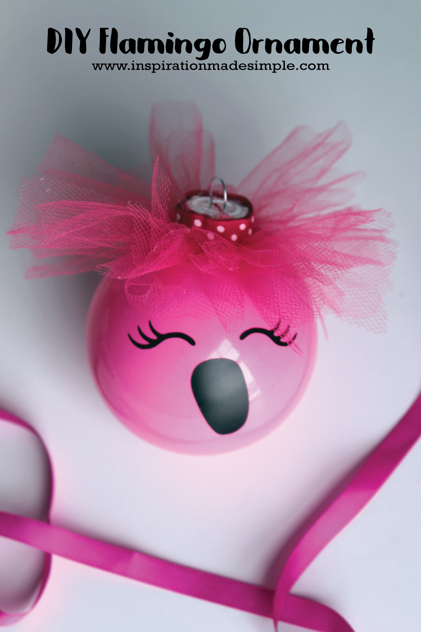 DIY Pink Flamingo Ornament