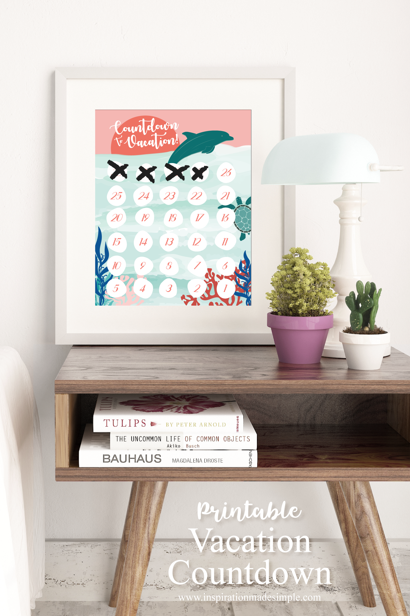Printable Beach Vacation Countdown